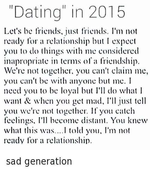 Dating not a relationship