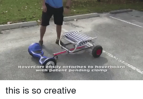 hoverboards: HouerCart easily attaches to hoverboard  with patent pending clamp this is so creative