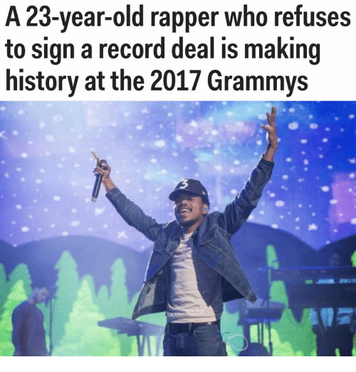 memes: A 23-year-old rapper who refuses  to sign a record deal is making  history at the 2017 Grammys