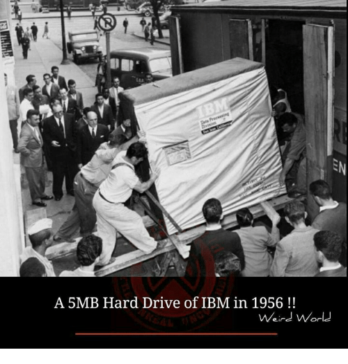 ibm: A 5MB Hard Drive of IBM in 1956  Weird World