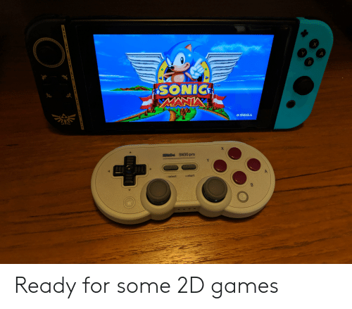 Sonic Mania: A  B  SONIC  MANIA  TM  CSEGA  X  8BitDo SN30 pro  Y  -select  +start  A  B  TCNWAVAY Ready for some 2D games