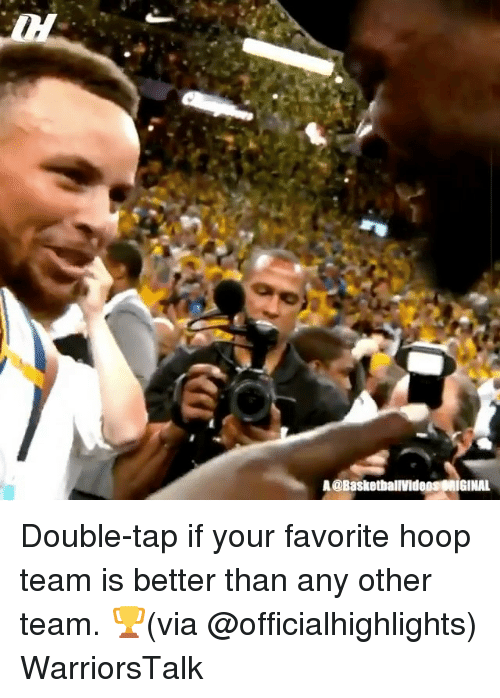 hooping: A @BasketballVideOIGINAL Double-tap if your favorite hoop team is better than any other team. 🏆(via @officialhighlights) WarriorsTalk