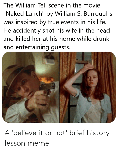 Believe It: A 'believe it or not' brief history lesson meme