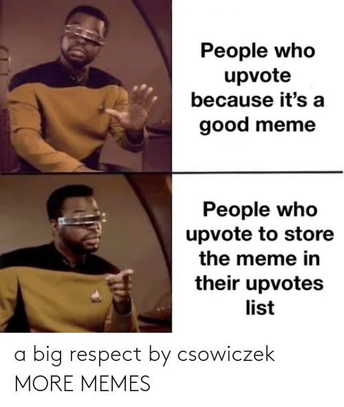 respect: a big respect by csowiczek MORE MEMES