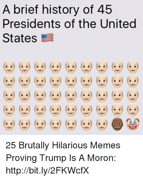 presidents of the united states: A brief history of 45  Presidents of the United  States 25 Brutally Hilarious Memes Proving Trump Is A Moron: http://bit.ly/2FKWcfX