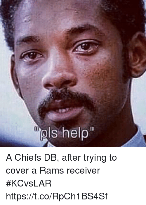 receiver: A Chiefs DB, after trying to cover a Rams receiver #KCvsLAR https://t.co/RpCh1BS4Sf