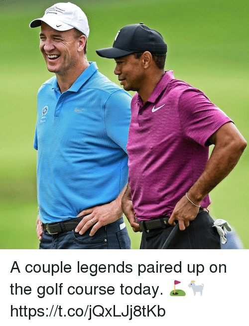 Golf Course: A couple legends paired up on the golf course today. ⛳️🐐 https://t.co/jQxLJj8tKb