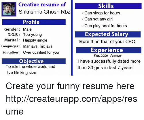 25  best memes about funny resume