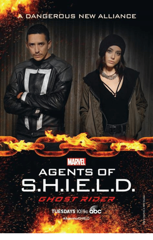 🤖: A DANGEROUS NEW ALLIANCE  MARTEL  AGENTS OF  S.H.I.E.L.D  GHOST RIDER  TUESDAYS bc