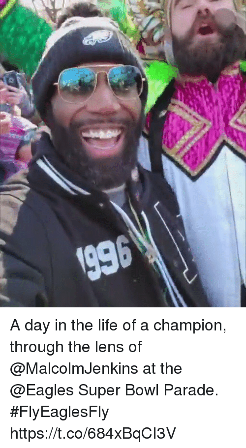 Philadelphia Eagles, Life, and Memes: A day in the life of a champion, through the lens of @MalcolmJenkins at the @Eagles Super Bowl Parade. #FlyEaglesFly https://t.co/684xBqCI3V