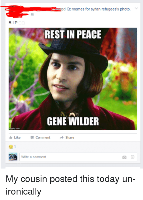 a ed qt memes for syrian refugeess photo rest in 3511810 🔥 25 best memes about gene wilder and meme gene wilder and memes,Gene Wilder Dead Meme