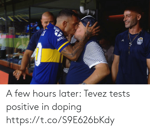 doping: A few hours later: Tevez tests positive in doping https://t.co/S9E626bKdy