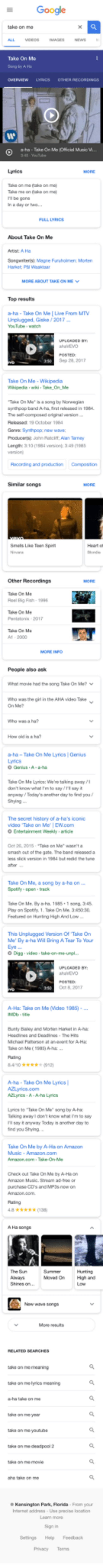 """Amazon, Mtv, and Music: a-ha -Take On Me (ical Music  taka on  Taha ma on take on me  n be gone  PULL LYRICS  Songweterist Magne Farshlme Morten  P Wasaar  Top results  a-ha- Take On Me [Live From MTV  Unplugged, Giske /2017  ep 28 20117  ake On Me-Wikipeda  Take On Ma"""" is a song by Nowagian  The soll-composed oiginal verion  Length 310 (3984 verson 343 58  Racordng and productian  Compostion  Similar songs  Heat on  Other Recordings  el Big Fish-1996  ttonis 2017  People aiso ask  what movie had Pe song Tio 0, Me?  Who was the girl in the AA video Tsk  How old is  a ha-Take On Me Lyrios Genius  nywry /Today's ancther day to fnd you  The secret history of a-ha's iconic  video Take on  O Entertainment Weeily atide  Me' 