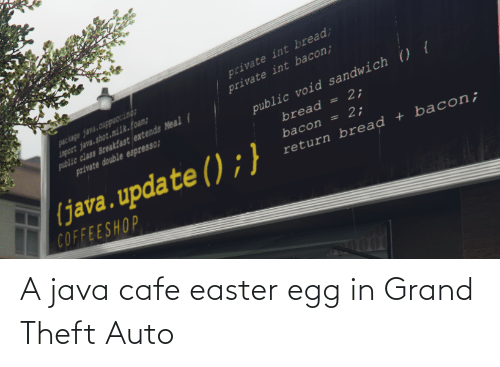 auto: A java cafe easter egg in Grand Theft Auto