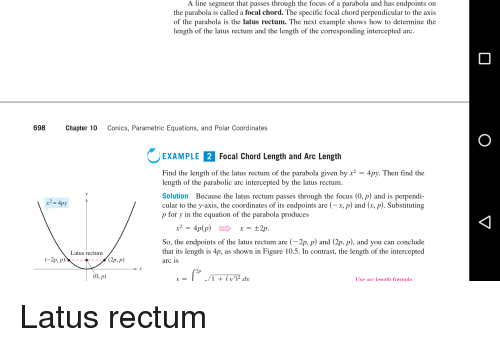 how to find latus rectum