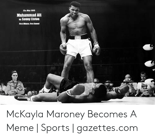 mckayla maroney: a May 1985  Muhammad Ali  rs Sonny Liston McKayla Maroney Becomes A Meme | Sports | gazettes.com