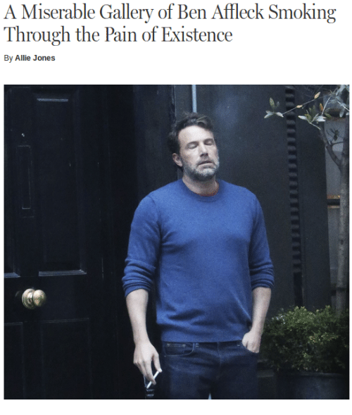 Ben Affleck Smoking Meme