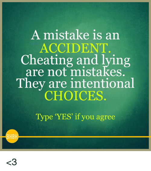 is cheating a mistake