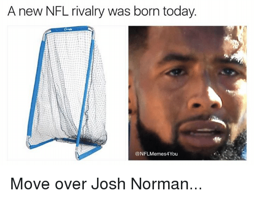 Josh Norman, Nfl, and Today: A new NFL rivalry was born today.  @NFLMemes4You Move over Josh Norman...