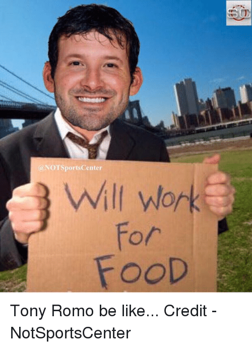 Be Like, Nfl, and SportsCenter: (a NOT SportsCenter  Will work  OOD Tony Romo be like...  Credit - NotSportsCenter