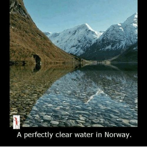 clear water: A perfectly clear water in Norway.