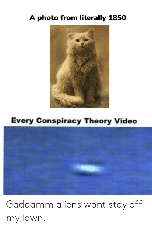 Conspiracy Theory: A photo from literally 1850  Every Conspiracy Theory Video Gaddamm aliens wont stay off my lawn.