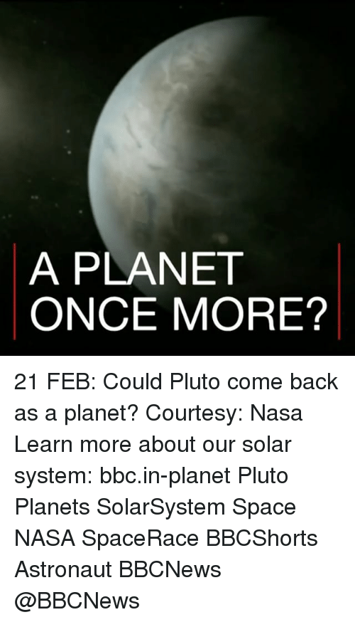 pluto the planet that once was Once again, not everybody is happy to see pluto become a dwarf planet.