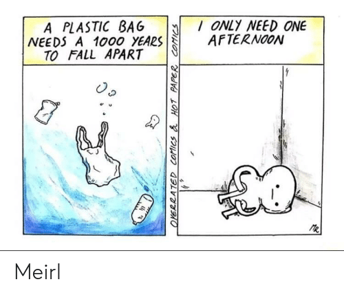 plastic bag: A PLASTIC BAG ONLY NEED ONE  NEEDS A 1000 YEARSAFTERNOON  TO FALL APART  e u  乀J Meirl