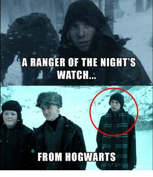 the nights watch: A RANGER OF THE NIGHT'S  WATCH...  FROM HOGWARTS