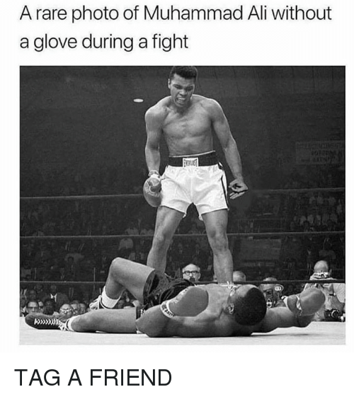 Ali, Dank, and Muhammad Ali: A rare photo of Muhammad Ali without  a glove during a fight TAG A FRIEND