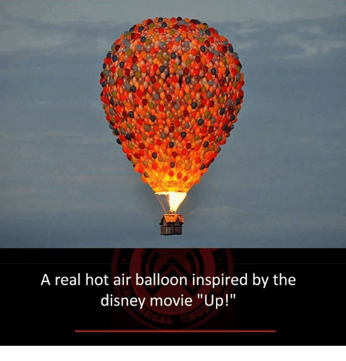 "hot air balloons: A real hot air balloon inspired by the  disney movie ""Up!"""