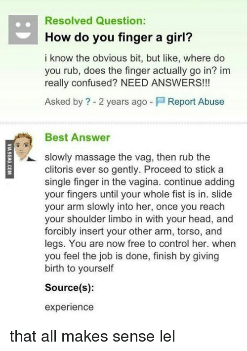 How To Finger Yourself For Girls