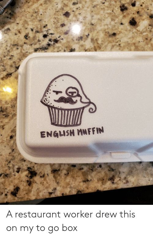 Restaurant: A restaurant worker drew this on my to go box