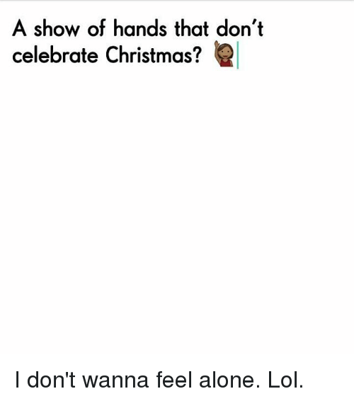 Memes Meme: A Show of Hands That Don't Celebrate Christmas? I Don ...