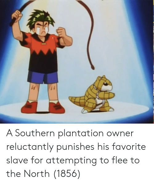 flee: A Southern plantation owner reluctantly punishes his favorite slave for attempting to flee to the North (1856)