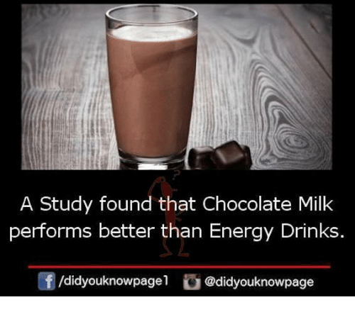 Chocolate Milk Is Better Than Energy Drinks