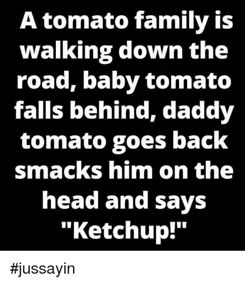 Image result for a tomato family is walking
