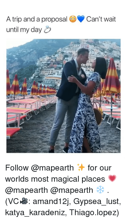 proposal: A trip and a proposal Can't wait  until my day  @travelcouple Follow @mapearth ✨ for our worlds most magical places 💗 @mapearth @mapearth ❄️ . (VC🎥: amand12j, Gypsea_lust, katya_karadeniz, Thiago.lopez)