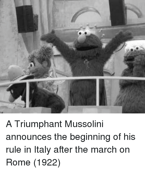 mussolini: A Triumphant Mussolini announces the beginning of his rule in Italy after the march on Rome (1922)