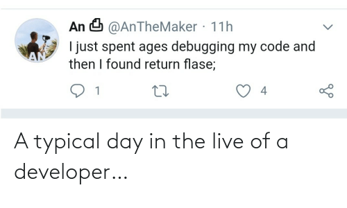 typical: A typical day in the live of a developer…