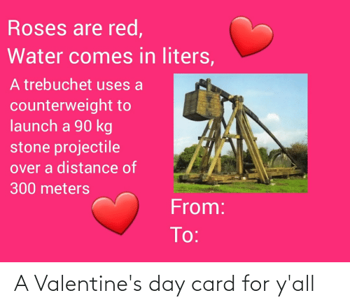 valentines day card: A Valentine's day card for y'all