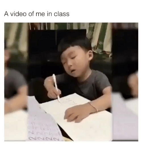 oas: A video of me in class  oa