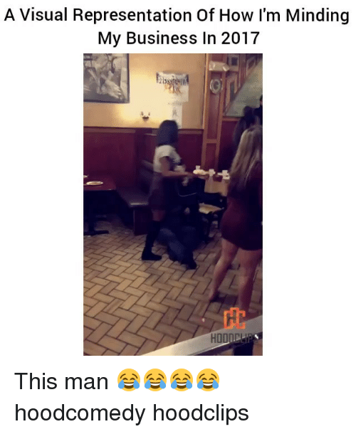 Funny, Representation, and  Visualizer: A Visual Representation Of How I'm Minding  My Business In 2017  HDOID This man 😂😂😂😂 hoodcomedy hoodclips