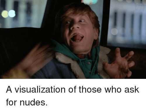Nudes, Ask, and Who: A visualization of those who ask for nudes.