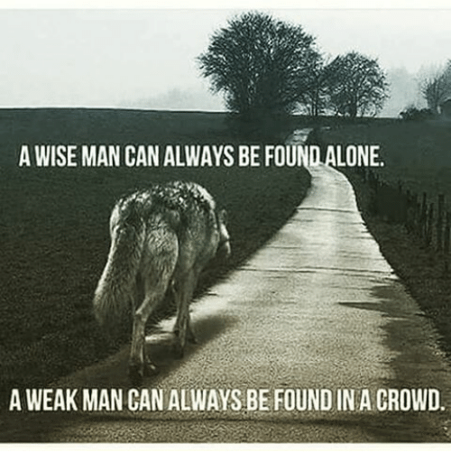Memes, 🤖, and Can: A WISE MAN CAN ALWAYS BE FOUNDALONE.  A WEAK MAN CAN ALWAYS BE FOUND IN A CROWD.