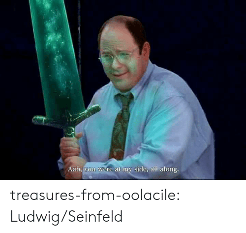 Seinfeld: Aah, you were al my side, all along. treasures-from-oolacile:  Ludwig/Seinfeld