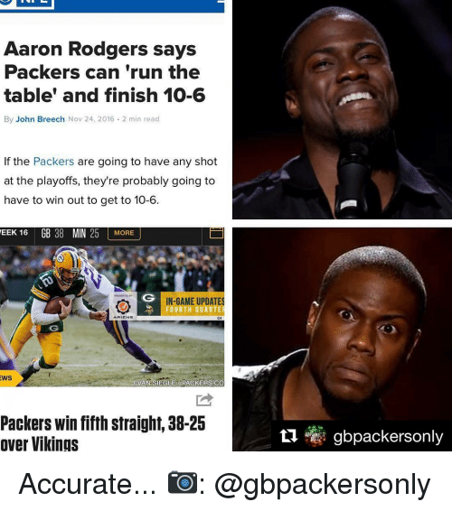 aaron rodgers says packers can run the table and finish 9940087 aaron rodgers says packers can run the table' and finish 10 6 by