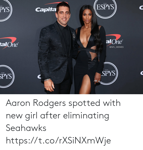 Aaron Rodgers: Aaron Rodgers spotted with new girl after eliminating Seahawks https://t.co/rXSiNXmWje