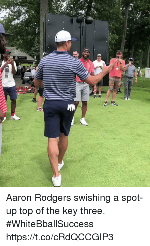 Aaron Rodgers, Basketball, and White People: Aaron Rodgers swishing a spot-up top of the key three. #WhiteBballSuccess https://t.co/cRdQCCGIP3