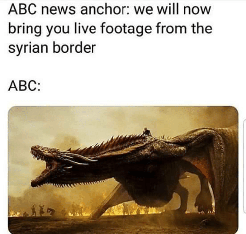Abc News: ABC news anchor: we will now  bring you live footage from the  syrian border  АВС: